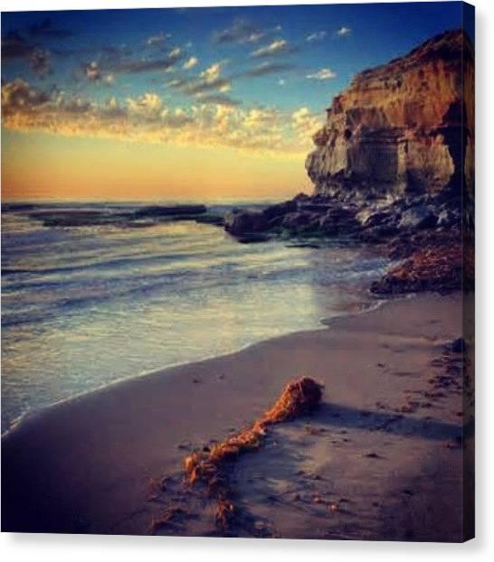 Lightning Canvas Print - Sunset & Paradise #oceanbeach #sandiego by Jonny Lightning
