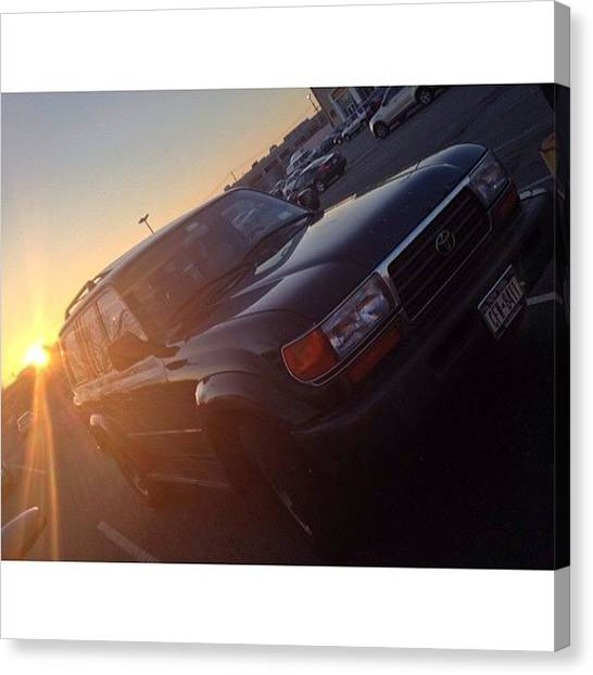Toyota Canvas Print - #sunset & #toyotalandcruiser After Work by Zyrus Zarate