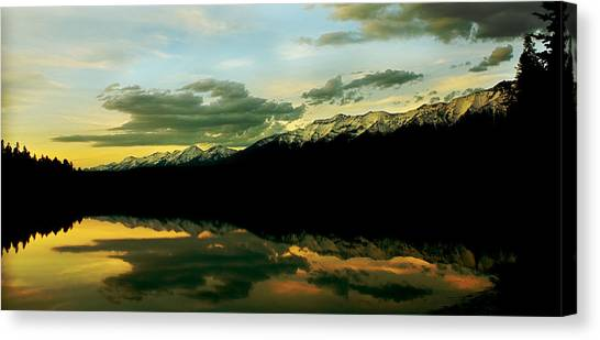 Sunset 1 Rainy Lake Canvas Print
