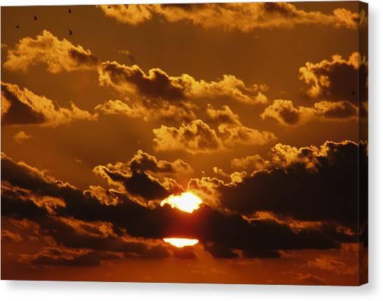 Canvas Print featuring the photograph Sunset 5 by Bob Slitzan