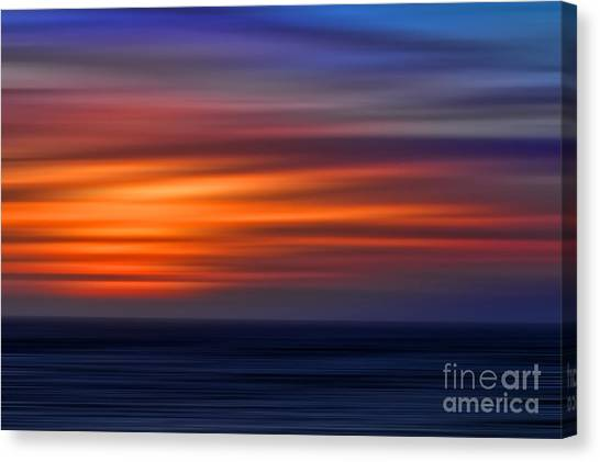 Sunset Abstract Canvas Print by Clare VanderVeen
