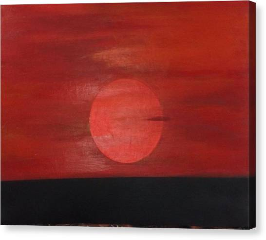 Sunset Canvas Print by Andrea Friedell