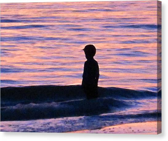 Beach Sunrises Canvas Print - Sunset Art - Contemplation by Sharon Cummings