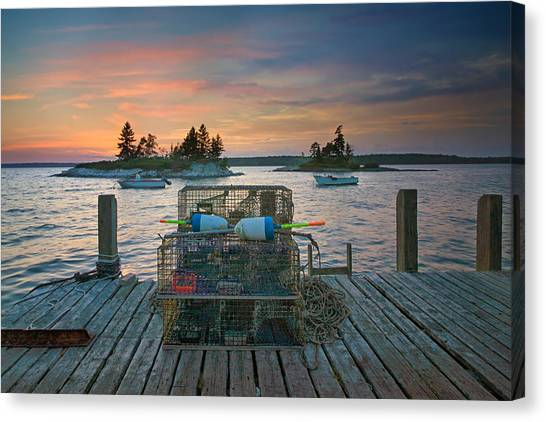Sunset At Allen's Dock Canvas Print
