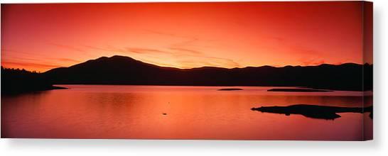 Landform Canvas Print - Sunset At Ashokan Reservoir, Catskill by Panoramic Images