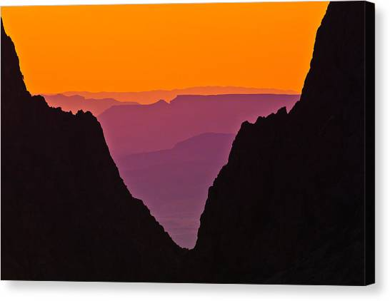 Sunset At Big Bend Canvas Print