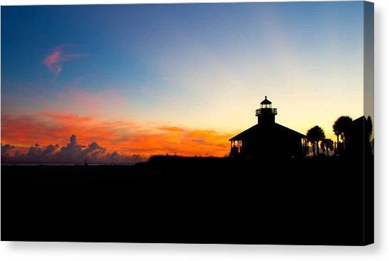 Canvas Print - Sunset At Boca Grande Lighthouse by Fizzy Image