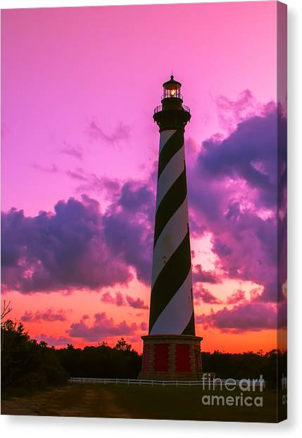 Sunset At Cape Hatteras Vertical  Canvas Print