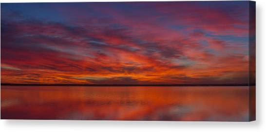 Sunset At Cheyenne Bottoms 1 Canvas Print