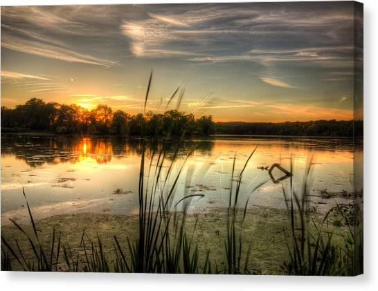 Sunset At Cootes Bay Canvas Print by Craig Brown