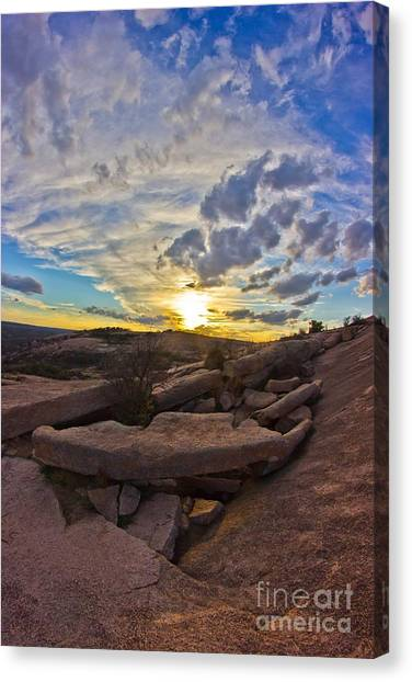 Sunset At Enchanted Rock State Natural Area Canvas Print