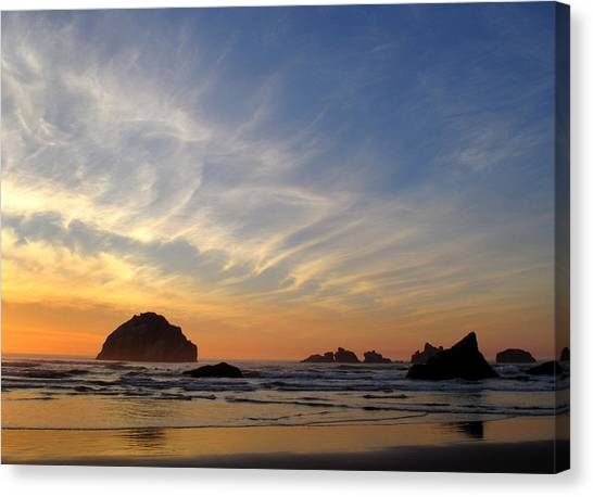 Sunset At Face Rock Canvas Print