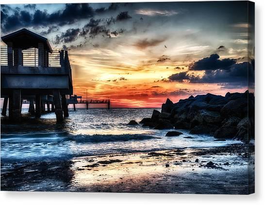Sunset At Fort Desoto 2 Canvas Print