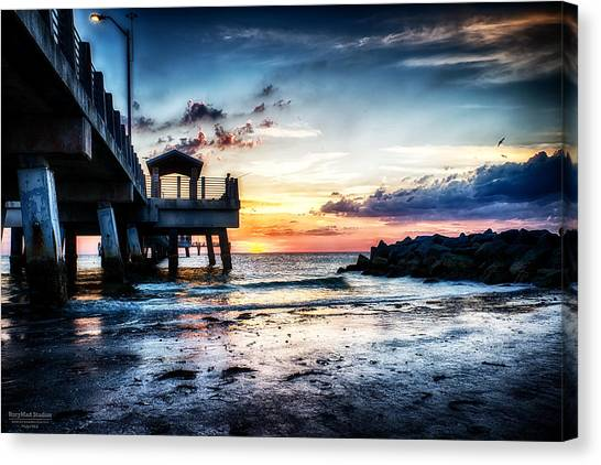 Sunset At Fort Desoto 3 Canvas Print