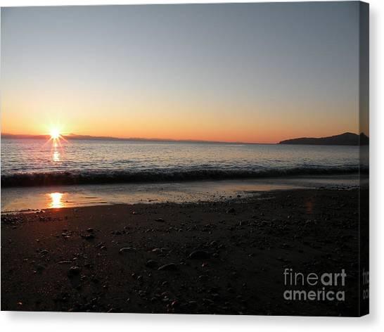 Sunset At Gordons Beach Canvas Print by Val Carosella