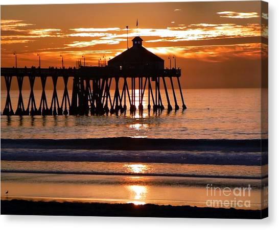 Sunset At Ib Pier Canvas Print