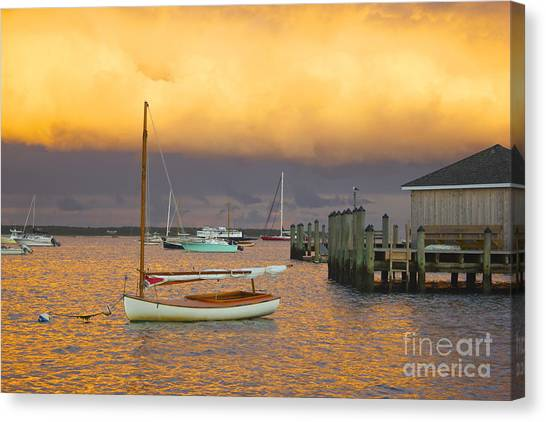 Sunset At Kennedy Compound Canvas Print