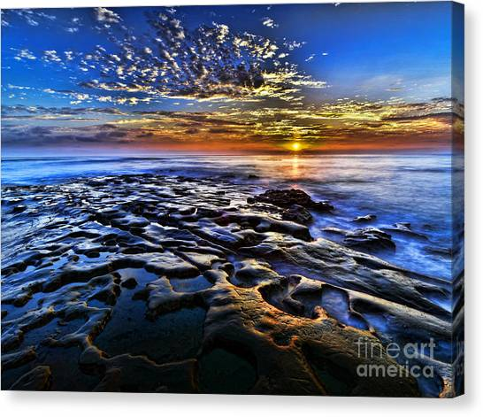 Sunset At La Jolla Tide Pools Canvas Print