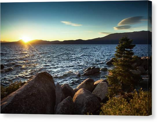 Sunset At Lake Tahoe Canvas Print