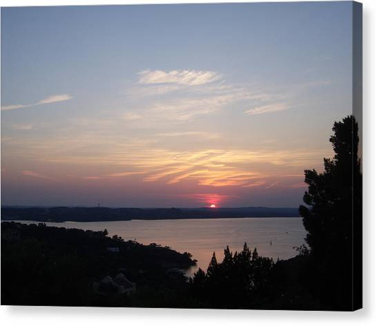 Sunset At Lake Travis Canvas Print
