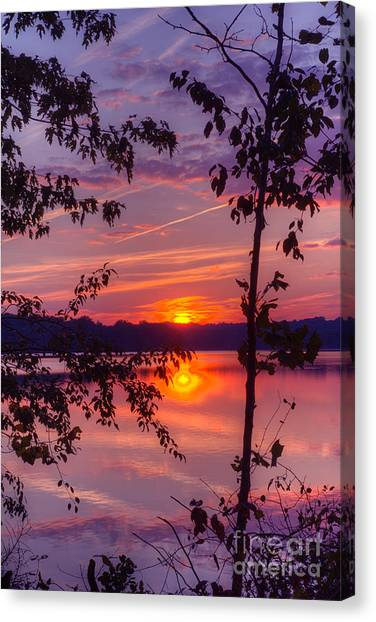 Sunset At Loch Raven Canvas Print