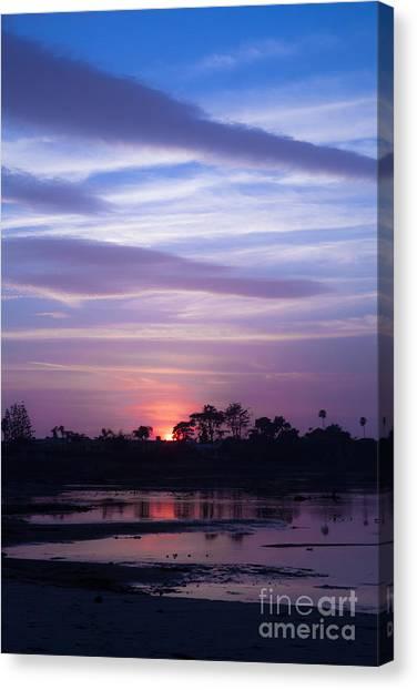Sunset At Malibu Beach Lagoon Estuary Fine Art Photograph Print Canvas Print