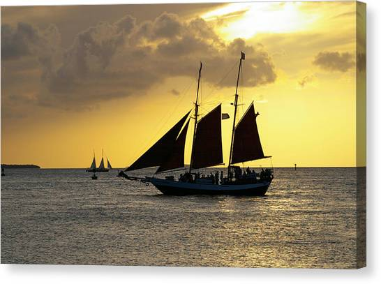Sunset At Mallory Square II Canvas Print