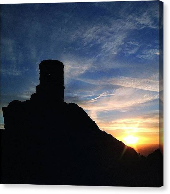 Fairy Canvas Print - Sunset At Mow Cop by Phil Tomlinson