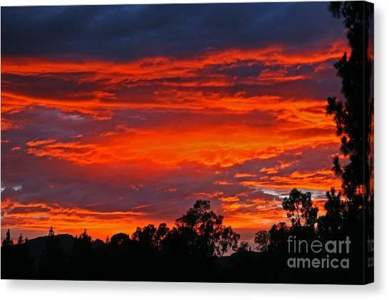 Sunset At Night Canvas Print by Kenny Bosak