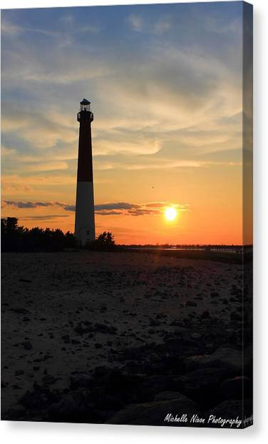Sunset At Old Barney Canvas Print by Michelle Nixon