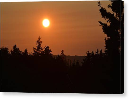 Sunset At Owl's Head Canvas Print