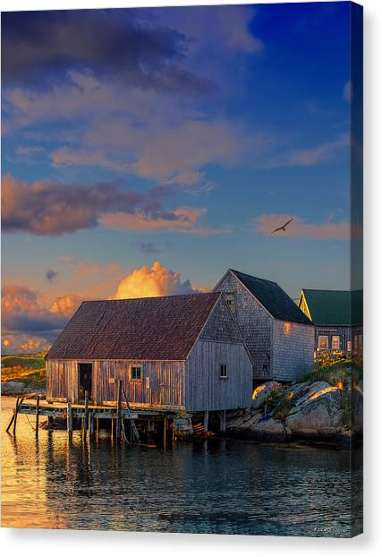 Sunset At Peggy's Cove 06 Canvas Print