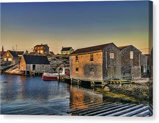 Sunset At Peggy's Cove IIi Canvas Print