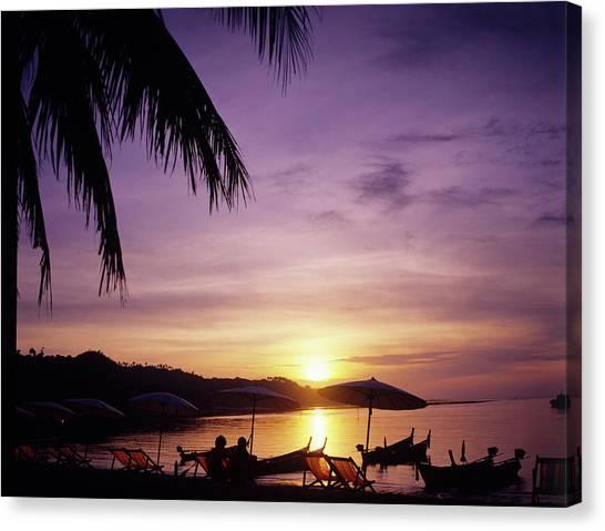 Phi Phi Island Canvas Print - Sunset At Phi Phi Islands, Thailand by Adina Tovy