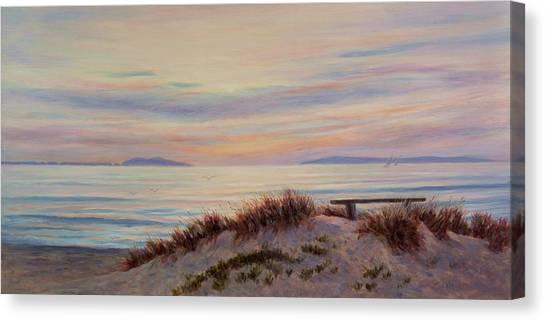 Sunset At Pierpont Beach Canvas Print by Tina Obrien
