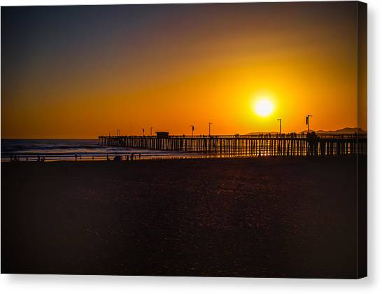 Sunset At Pismo Canvas Print