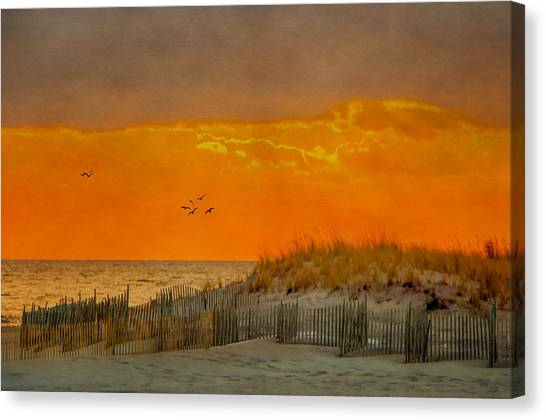 Sunset At Robert Moses Park Canvas Print