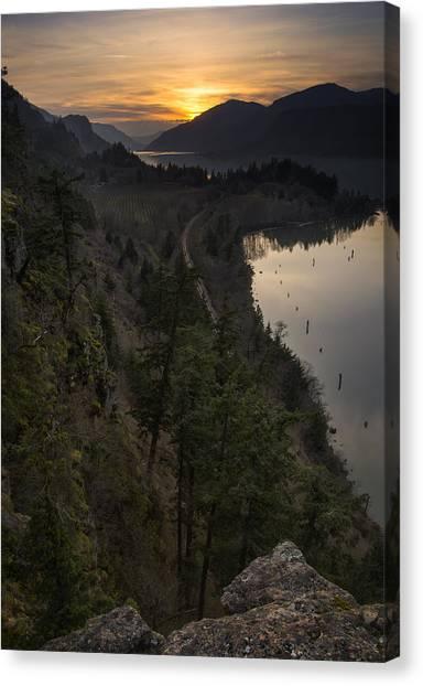 Sunset At Ruthton Point Canvas Print