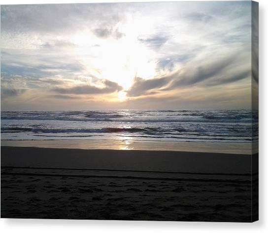 Sunset At San Gregorio Canvas Print