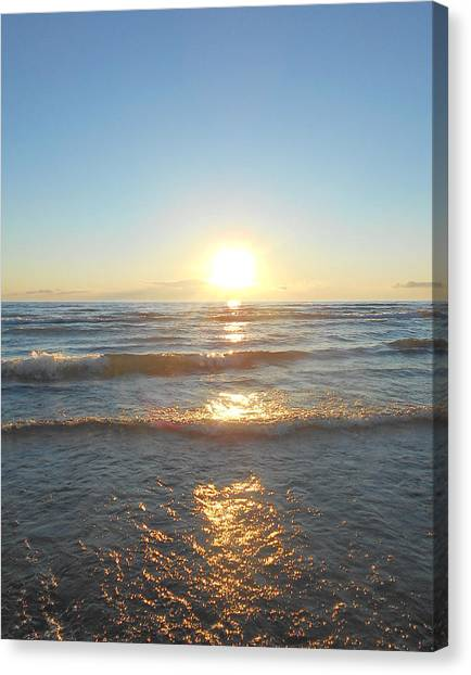 Sunset At Sauble Beach  Canvas Print