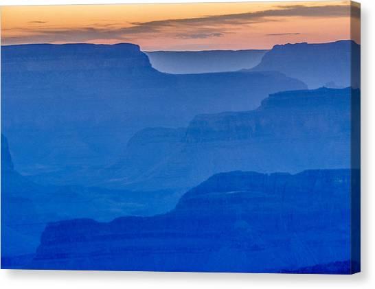 Sunset At South Rim Canvas Print