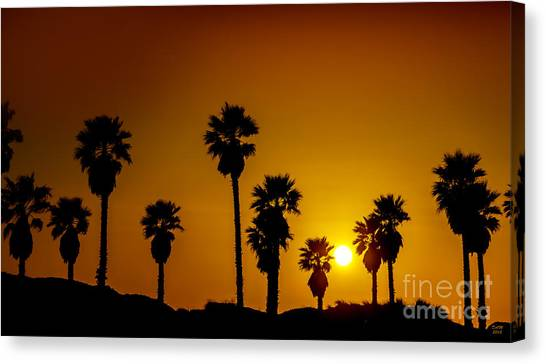 Sunset At The Beach Large Canvas Art, Canvas Print, Large Art, Large Wall Decor, Home Decor Canvas Print