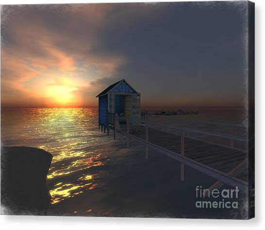 Sunset At The Beach Canvas Print