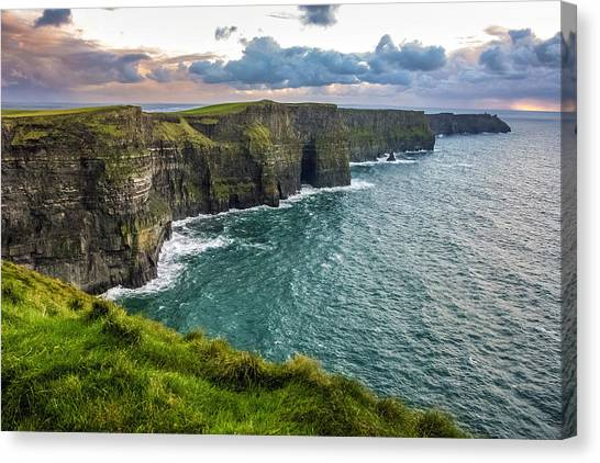 Sunset At The Cliffs Of Moher Canvas Print
