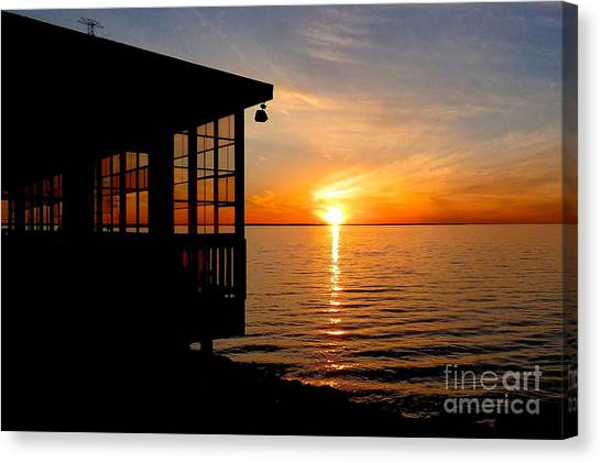Sunset At The Crab Shack Canvas Print