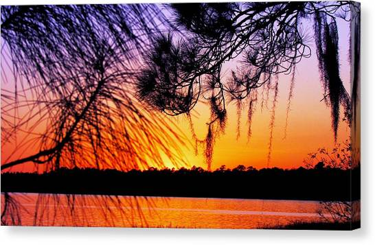 Sunset At The Lake 2 Canvas Print by Will Boutin Photos