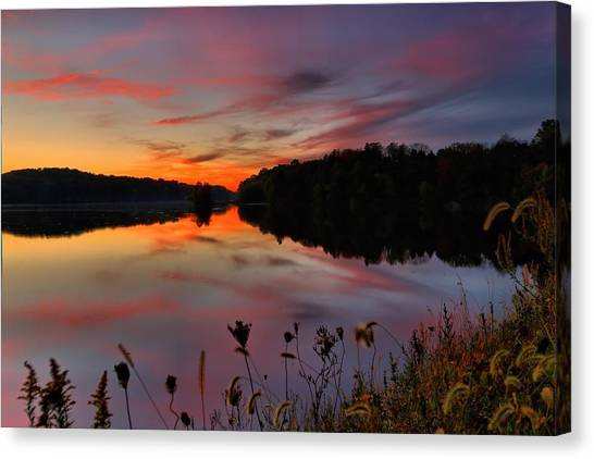 Brian Wilson Canvas Print - Sunset At The Lake by Brian Wilson