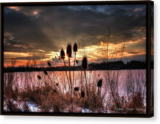 Sunset At The Pond 4 Canvas Print