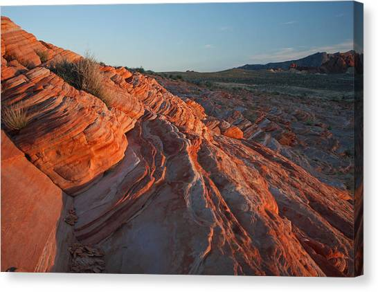 Sunset At The Valley Of Fire Canvas Print
