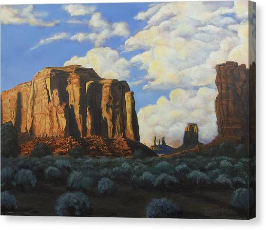 Sunset At The Window Monument Valley Canvas Print